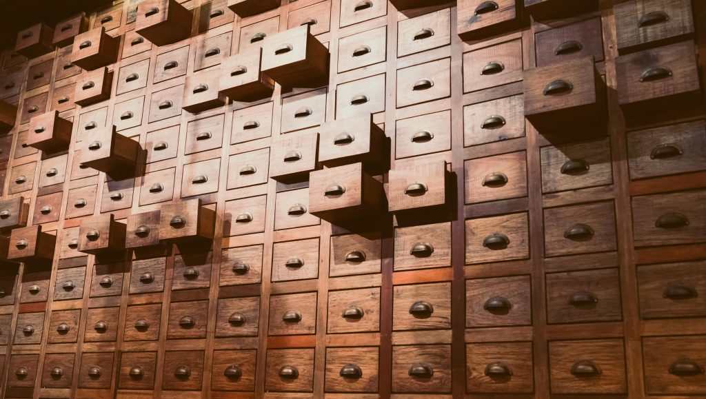 Library drawers - data handling